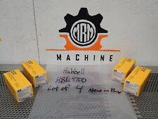 Hubbell HBL4700 Twist-Lock Duplex Receptacle 15A 125V 2P 3Wire New (Lot of 4)