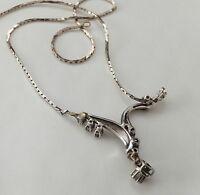 18k Diamond Lavaliere 18ct Gold Necklace