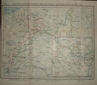 Mapa/Batalla Plan ~ Junio/Julio 1815 Ne Francia & S Países Troop Movimientos