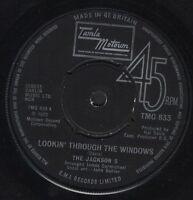 "JACKSON 5 lookin' through the windows/love song TMG 833 uk motown 1972 7"" WS EX/"