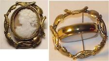 FABULOUS VICTORIAN CAMEO & FRENCH CASTLE SWIVEL BROOCH