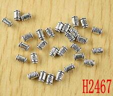 120pcs Tibetan silver tube spacer beads h2467