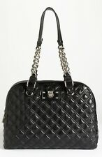 MARC JACOBS 'KARLIE' KARLY QUILTED LEATHER SATCHEL BAG BLACK NWT $1295