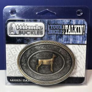 Montana Silversmiths Attitude Buckles 2 Tone Filigree Lamb Belt Buckle