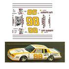 98 Levi Garrett 1982 1/64 scale decal AFX Tyco Lifelike Autoworld