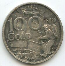 GY887 - Medaille Italien - Earth Moon Earth 1969 - 100 Tempo Gold Werbetoken