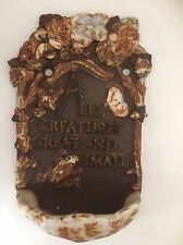 "Vintage Midwest Imports ""All Creatures Great and Small"" Cast Iron Wall Pocket"