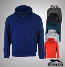 Mens Slazenger Full Zip Hoody Hoodie Jumper Fleece Linning Jacket Sizes S-XXXXL