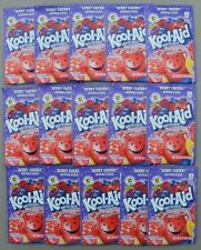 15 packets of KOOL-AID drink mix: BERRY CHERRY, powdered, UNSWEETENED