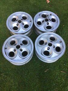 Ford Escort Mk3 XR3, XR3I Cloverleaf Alloy Wheels X4