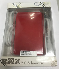 "Rocky Mountain USB/Firewire 400/800 HDD Enclosure B385XX-RD - 2.5"" SATA - Red"