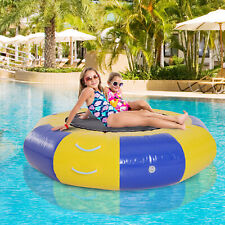 Soozier Inflatable Water Trampoline Bouncer Jumping PVC with Pump Outdoor Summer