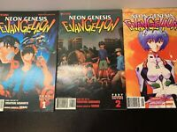 Lot of 3 Book 7 Viz Comics Neon Genesis Evangelion Parts 1 2 and 4
