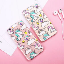 Cute Pattern Soft Silicone TPU Clear Unicorn Case Cover For iPhone  6 6s