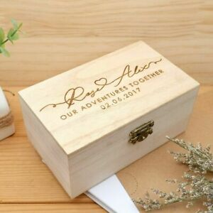 Personalized Wooden Keepsake Box Memory Box Adventures Box Anniversary Gifts