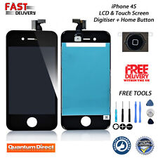 BLACK iPhone 4S Retina LCD Digitiser Assembly Replacement w/Home Button w/Tools
