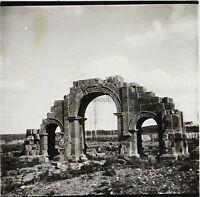 Algeria Arc Lambaesis Ruines Romana Placca Da Lente Stereo Positivo