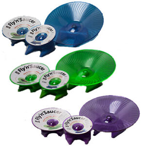 Small 'n' Furry Fly 'n' Saucer Exercise Wheel Flying Silent Hamster Gerbil Mouse