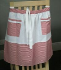 WHITE AND RED GINGHAM DESIGN HALF APRON / PINNY  NO. 1