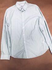 Calvin Klein Mens Button Down Shirt Longsleeve Cotton Formal M Medium Gray Nwt