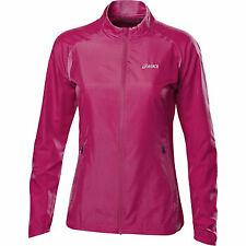 Asics Essentials Woven Womens Wind Water Resistant Running Training Jacket Pink