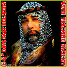 Chain mail Coif Round neck Chain-mail hood Medieval Chainmail Armour Coif