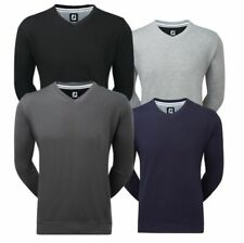 FootJoy Mens Spun Poly V neck Chill-Out Golf top - Special Offer size M