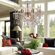 Elegant Crystal Candle Decoration Chandelier Luxury Pendant Ceiling Lamp 9Lights