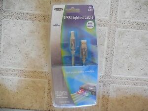 Belkin USB Lighted Cable-6 feet-1.8 meters-Light up your desktop connections