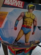 MARVEL Child DELUXE WOLVERINE COSTUME M 8-10 NEW Muscle Chest Jumpsuit & Mask