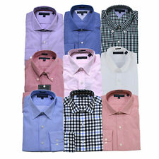 Tommy Hilfiger Mens Dress Shirt Regular Fit Buttondown Collared Button Up New
