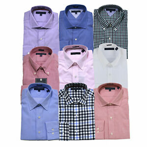 Tommy Hilfiger Mens Dress Shirt Regular Fit Buttondown Collared Button Up New Th