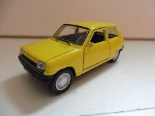 Renault 5 R5 Jaune 1/38 Welly NEUF Boite d'origine