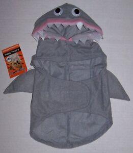 NWT Simply Dog Pet Shark Costume XS S M L Dogs Cat Petco Halloween