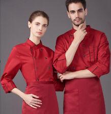 Men Women chef overalls kitchen clothes Jacket chef uniforms overalls chef Apron