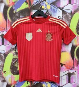 Spain National Football Team Shirt Soccer Jersey Adidas 2013 Boys Kids Size S