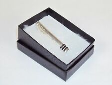 Men's Tie Clip ~ GUESS Branded Polished Stainless Steel w/ 3 Rings ~NEW #5310080