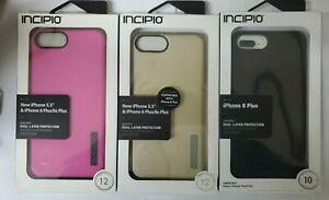 Incipio DualPro Dual Layer Case For iPhone 8 Plus 7 Plus 6 Plus Black Gold Purpl