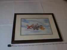 Disney Winnie the Pooh 100 acre wood picture Child at heart snow A.A. Milne fram