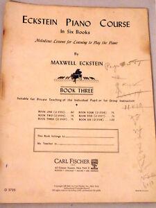 Eckstein Piano Course by Maxwell Eckstein Book 3 Music Piano Solo Instructional