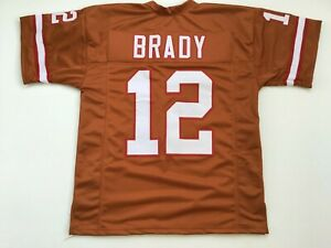 UNSIGNED CUSTOM Sewn Stitched Tom Brady Orange ERROR Jersey - M, L, XL, 2XL