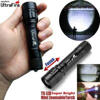 UltraFire 18650 Flashlight Zoomable 20000LM 3Mode Tactical LED T6 LED Torch Lamp