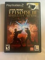 STAR WARS EPISODE III  - PS2 - COMPLETE W/ MANUAL - FREE S/H - (B41A)