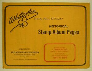 WHITE ACE -  COMMEM PLATE BLOCKS PAGES - PT 12  1984-1986      #WA-CPBP12