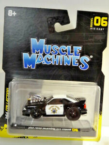 """MUSCLE MACHINES """"NEW 2021"""" BLACK 1993 FORD MUSTANG SVT COBRA HIGHWAY PATROL"""