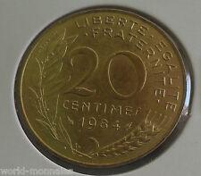 20 centimes marianne 1984 : SUP : pièce de monnaie française
