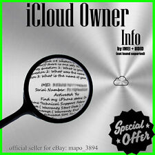 iCloud Owner Info Apple (by IMEI) Worldwide