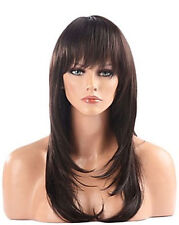 UKJF720  new vogue long brown straight health girl  hair Wigs for women wig