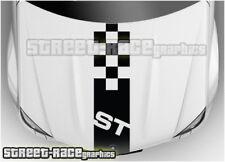 BS1705 Ford Focus Fiesta St Bonnet/CAPÓ CALCOMANÍAS Pegatinas de gráficos Rayas De Carreras