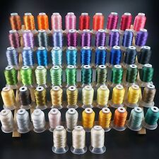 63 Brother Colours Polyester Sewing & Embroidery Machine Thread 500M Each 40WT